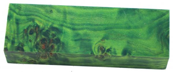 Raffir® stabilisiertes Pappelmaserholz grün
