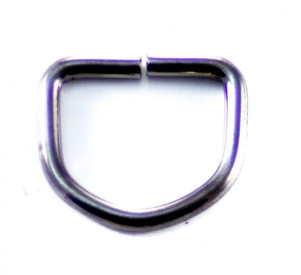 D-Ring (groß) schwarz glänzend