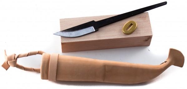 Bausatz für nordisches Messer 62 carbon inkl. Lederscheide