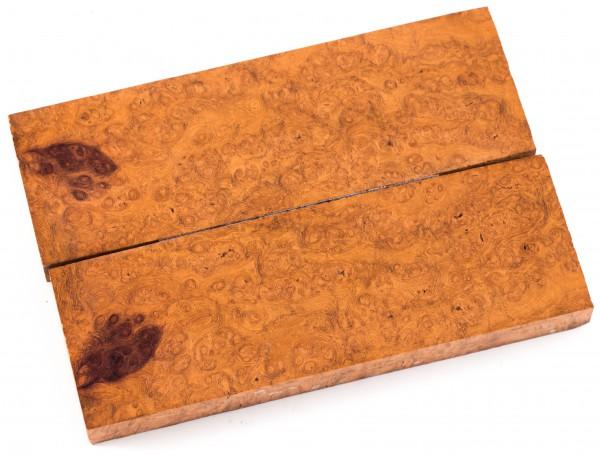 Holz Amboina Maser (Griffschalen-Paar)