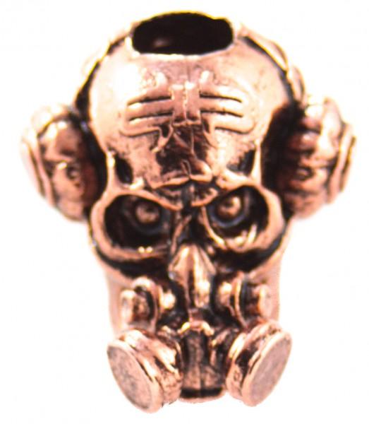 Brous Gas Mask Bead Antik Kupfer