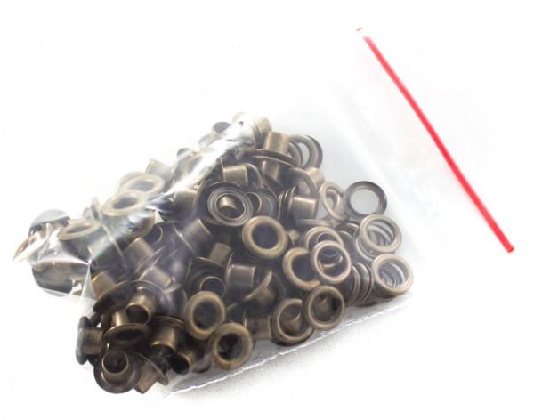 Eyelet (Öse) 5,5mm altmessing, mit Gegenplatte (100er-Packung)