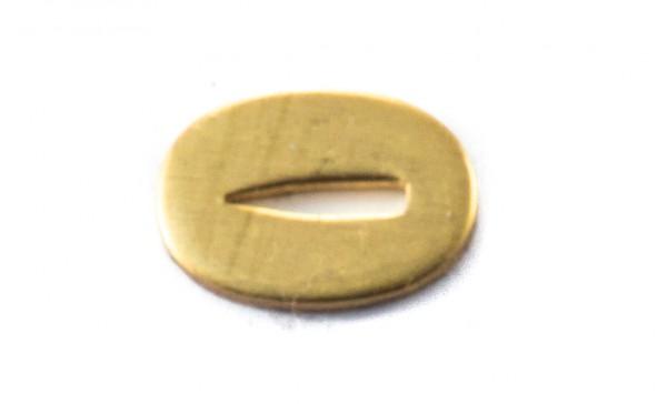 Passung Messing 13x18x2mm V-Schlitz- Schlitzmaß: 2mm
