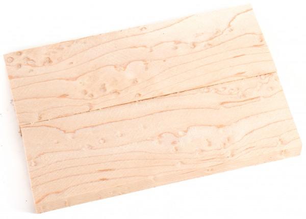 Holz Vogelaugenahorn, Griffschalenpaar