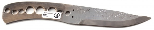 Messerklinge Eklund Fulltang forged surface