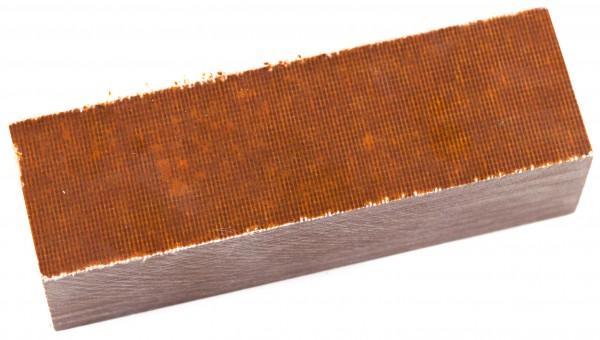 Canvas-Micarta Block braun 35mm