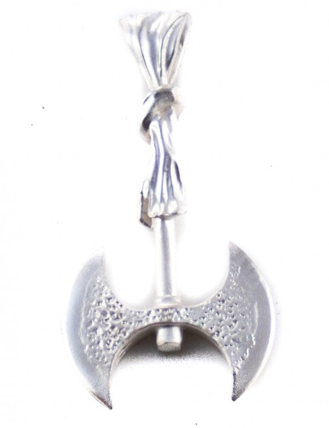 Anhänger Minoische Doppelaxt mit Kultknoten, Silber