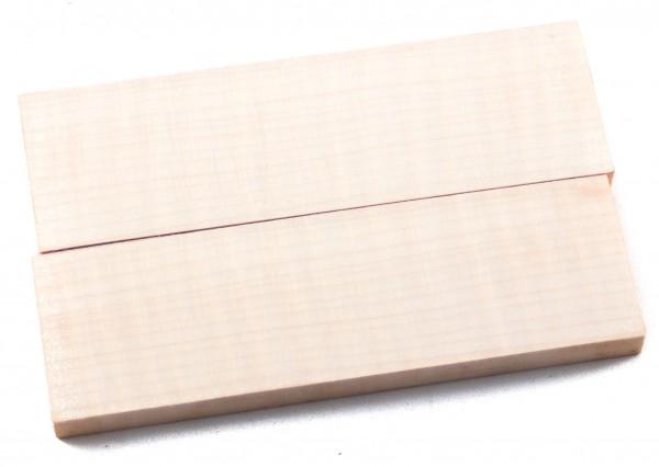 Holz Riegelahorn, Griffschalenpaar
