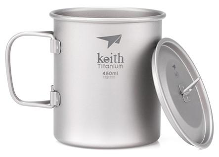 Keith Titanium Becher mit Deckel