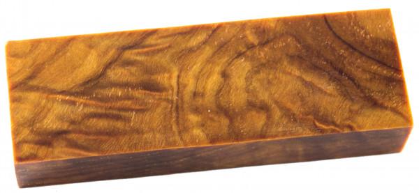 Raffir® stabilisiertes geflammtes Pappelholz gelb