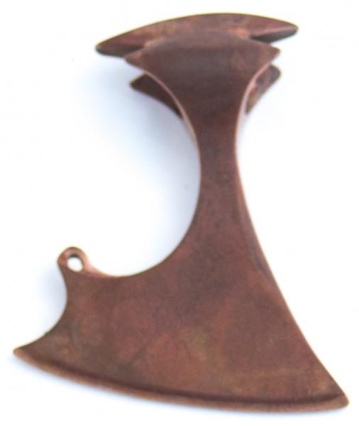 Anhänger Helmdach-Axt Rotbronze