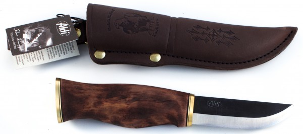 Ahti Messer Leuku 90mm, schwarze Klinge