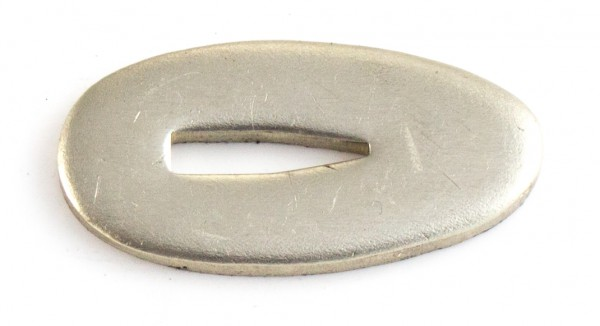 Passung Neusilber 18x35x3mm Fingerschutz, V-Schlitz - Schlitzmaß: 3,2mm