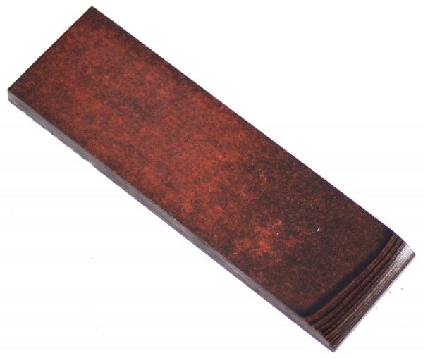 Leinen-Micarta Rost / schwarz, Griffschalenpaar 8mm