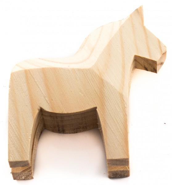Dala-Pferd 10cm Rohling