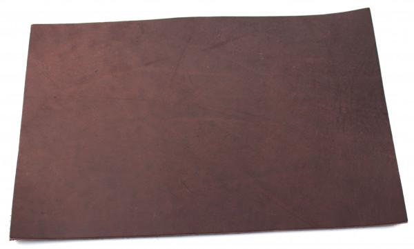 Blankleder dunkelbraun ca. 3,0mm (200x300mm)