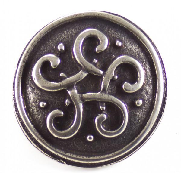 Aufnietplatte keltischer Knoten