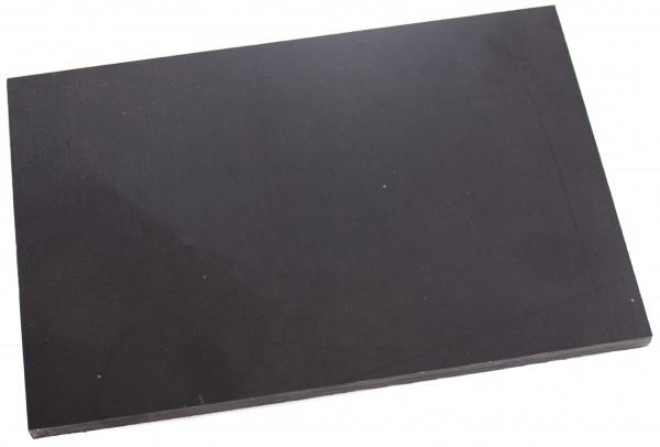 Canvas Micarta schwarz Platte 9mm
