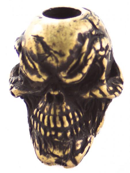 Grinsender Skull roman Messing