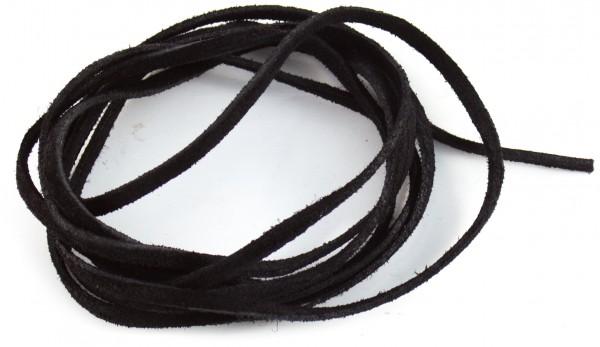 Lederschnur flach ca. 3mm stark, 1,5 Meter, Farbe: schwarz
