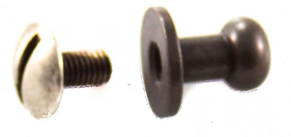 Knopfniete schwarz, 6,2mm Kopf, mittel (10er Packung)