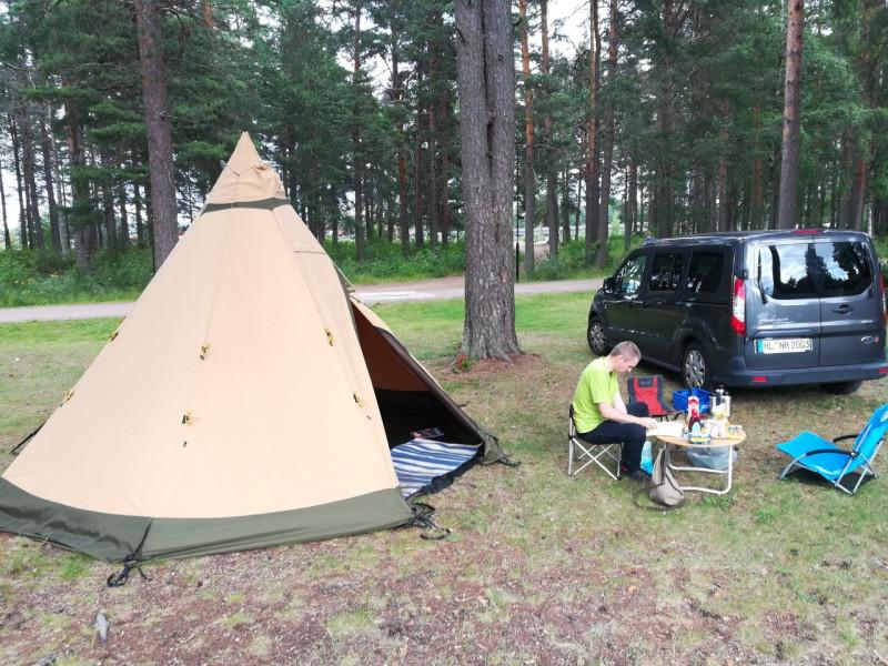 Mit dem Safir 7 b/p von Tentipi in Schweden