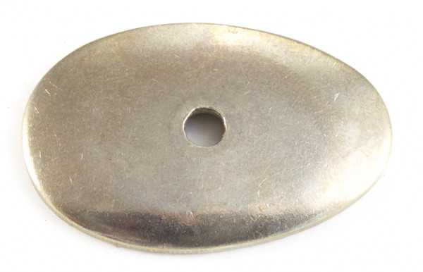 Nietplatte 39x25x2mm - Neusilber