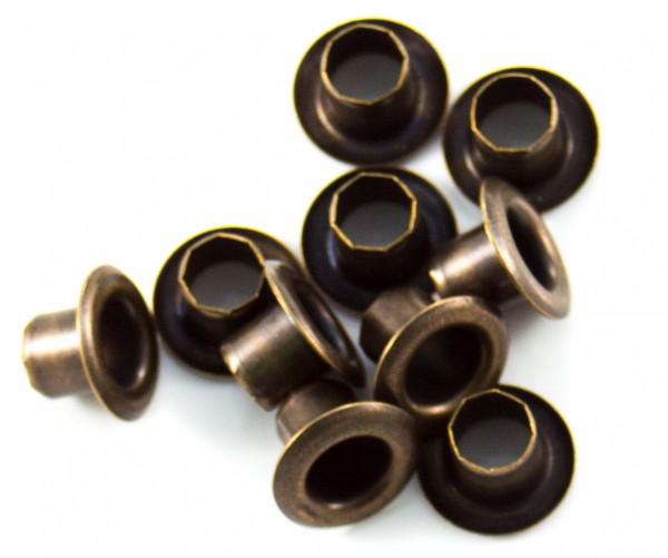Eyelet (Öse) 6mm altmessing, mittel (10er-Packung)