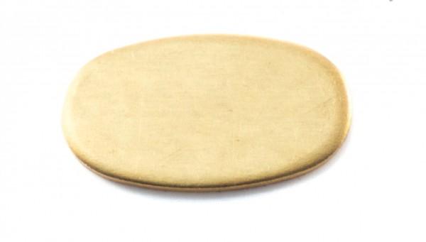 Universalpassung Messing oval extra groß ohne Schlitz