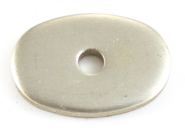 Nietplatte 24x16x3mm - Neusilber