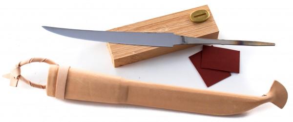 Bausatz für Filetmesser rostfrei, inkl. Lederscheide