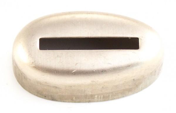 Hülse 21x39mm - Neusilber, Schlitzmaß: 25x3,2mm