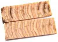 Raffir® Mammutbackenzahn Griffschalenpaar natur