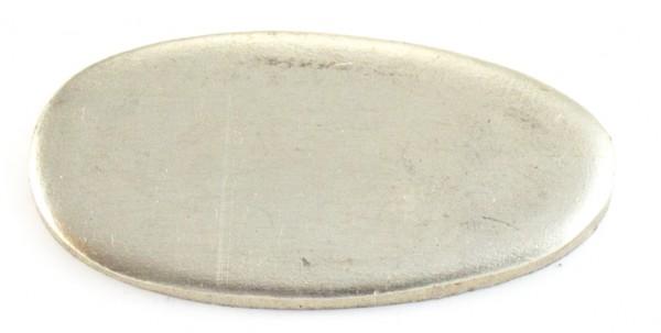 Universalpassung Neusilber oval Fingerschutz ohne Schlitz