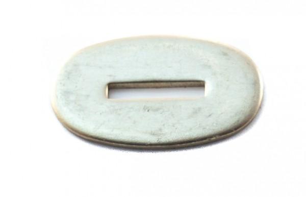 Passung Neusilber 24x44x3mm - Schlitzmaß:20 x 3 mm