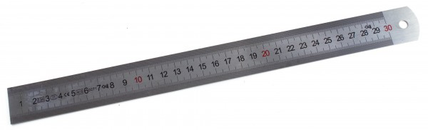Lineal aus Stahl 30cm