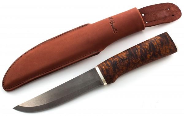 Roselli Messer Jägermesser Silber lang Wootz UHC