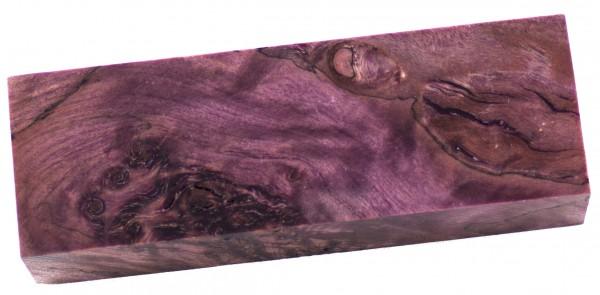 Raffir® stabilisiertes Pappelmaserholz purple