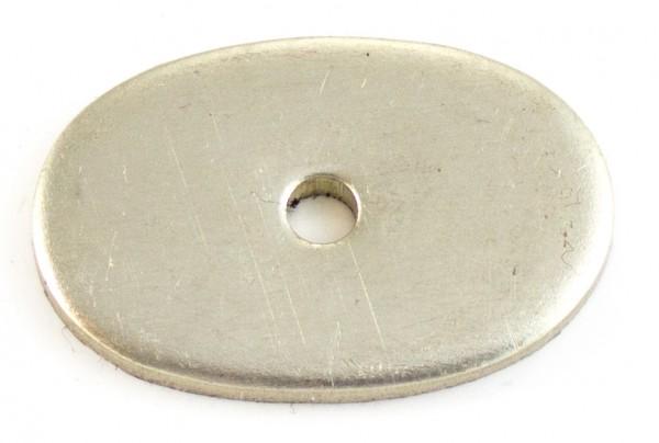 Nietplatte 32x21x3mm - Neusilber