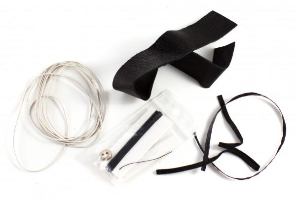 Bausatz Sami Armband aus Rentierleder schwarz