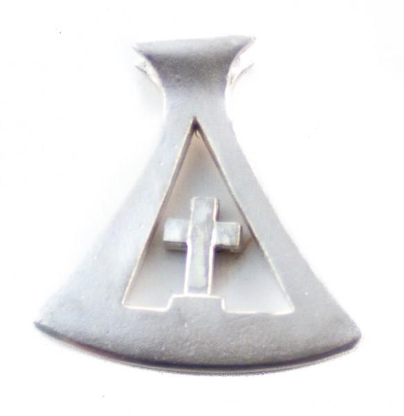 Anhänger Kreuz Axt Silber