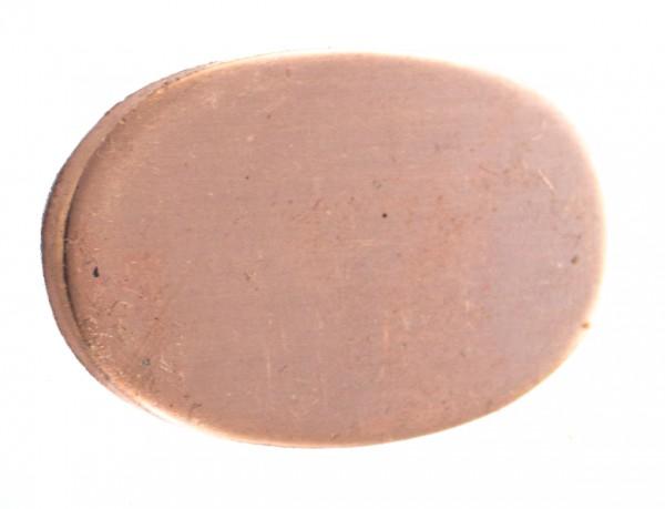 Universalpassung Bronze oval groß ohne Schlitz
