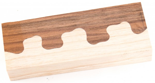 Puzzle-Holz Walnuss / Ahorn
