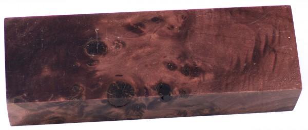 Raffir® stabilisiertes Pappelmaserholz braun