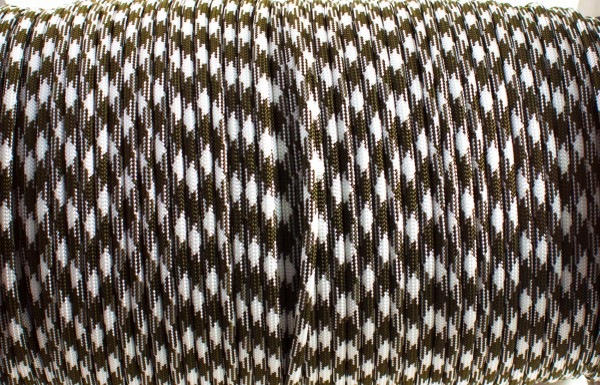 Paracord 550 - 5m Olive Drab & White