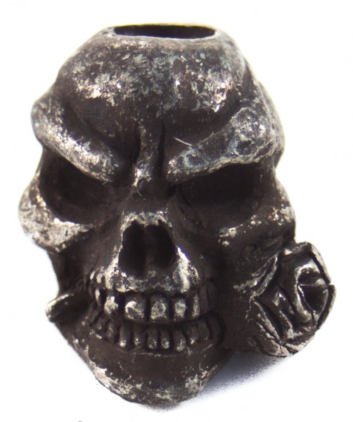Rose Skull schwarz