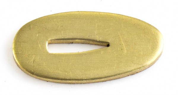 Passung Messing 18x35x3mm Fingerschutz, V-Schlitz - Schlitzmaß: 3,2mm