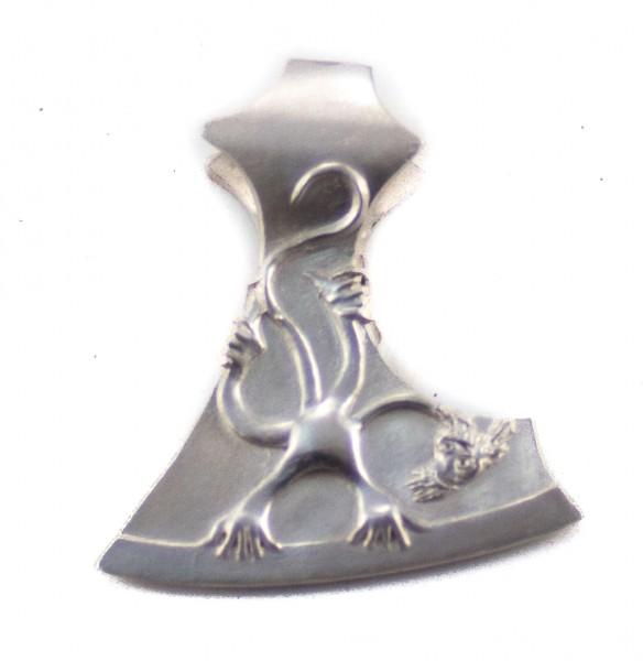 Anhänger Skoppa Axt Silber