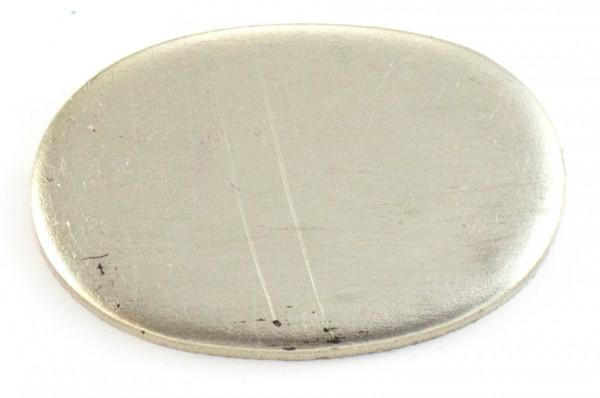 Universalpassung Neusilber oval groß ohne Schlitz