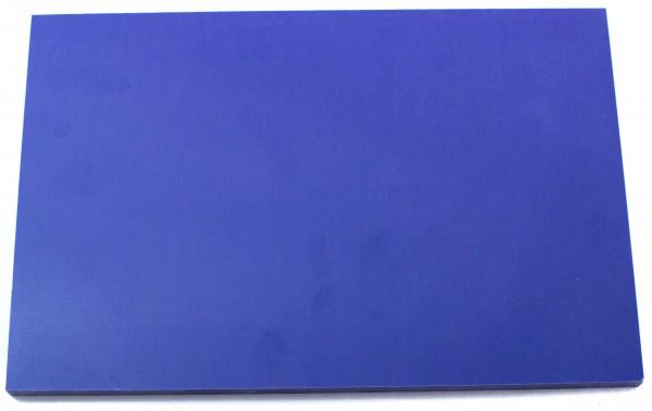 Leinen-Micarta blau Platte 9mm